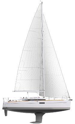 Jeanneau 349 Sail plan