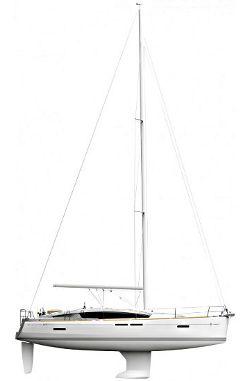 Jeanneau 41 DS Sail plan