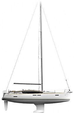 Jeanneau 44 DS Sail plan