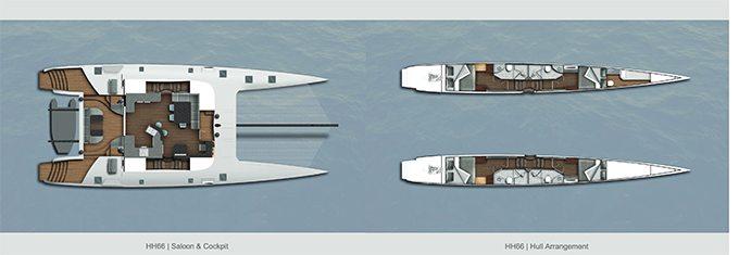 HH66 Catamaran design