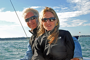 Glenn Waters, Managing Partner & wife Ani Walters - Bluenose Yacht Sales