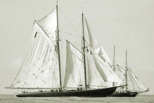 The Bluenose Schooner, hailing from Nova Scotia was the fastest boat for over 20 years