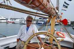 Glenn Walters on the Bluenose