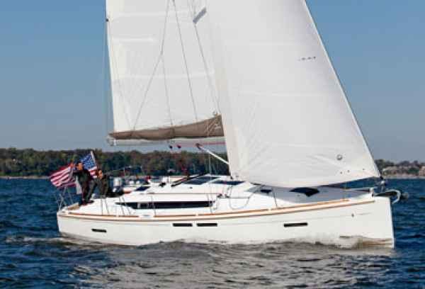 jeanneau 419 upwind cruising