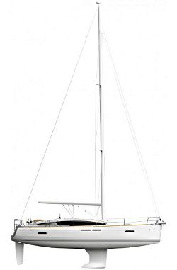 Jeanneau 41 DS Sail plan