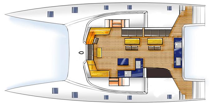 HH55 Catamaran Layout