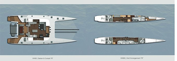HH66 Catamaran layout