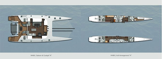 HH66 Catamaran drawings