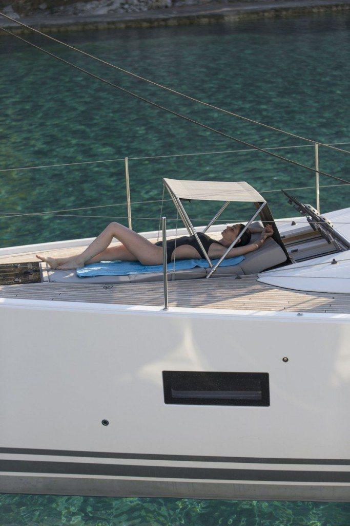 relaxing onboard Jeanneau 54