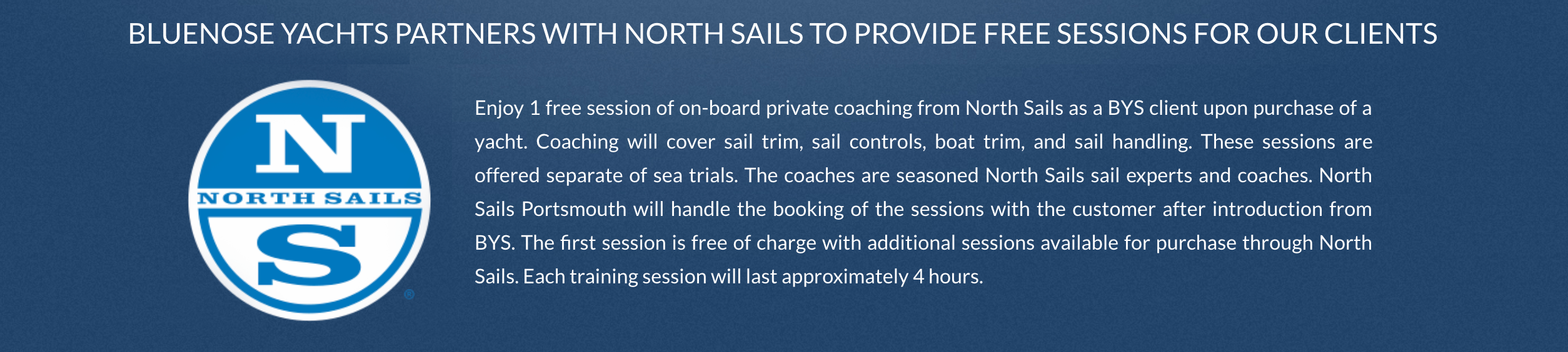 north sails new buyer incentive