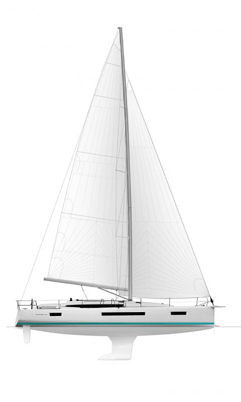 Jeanneau Sun Odyssey 490 Sail plan