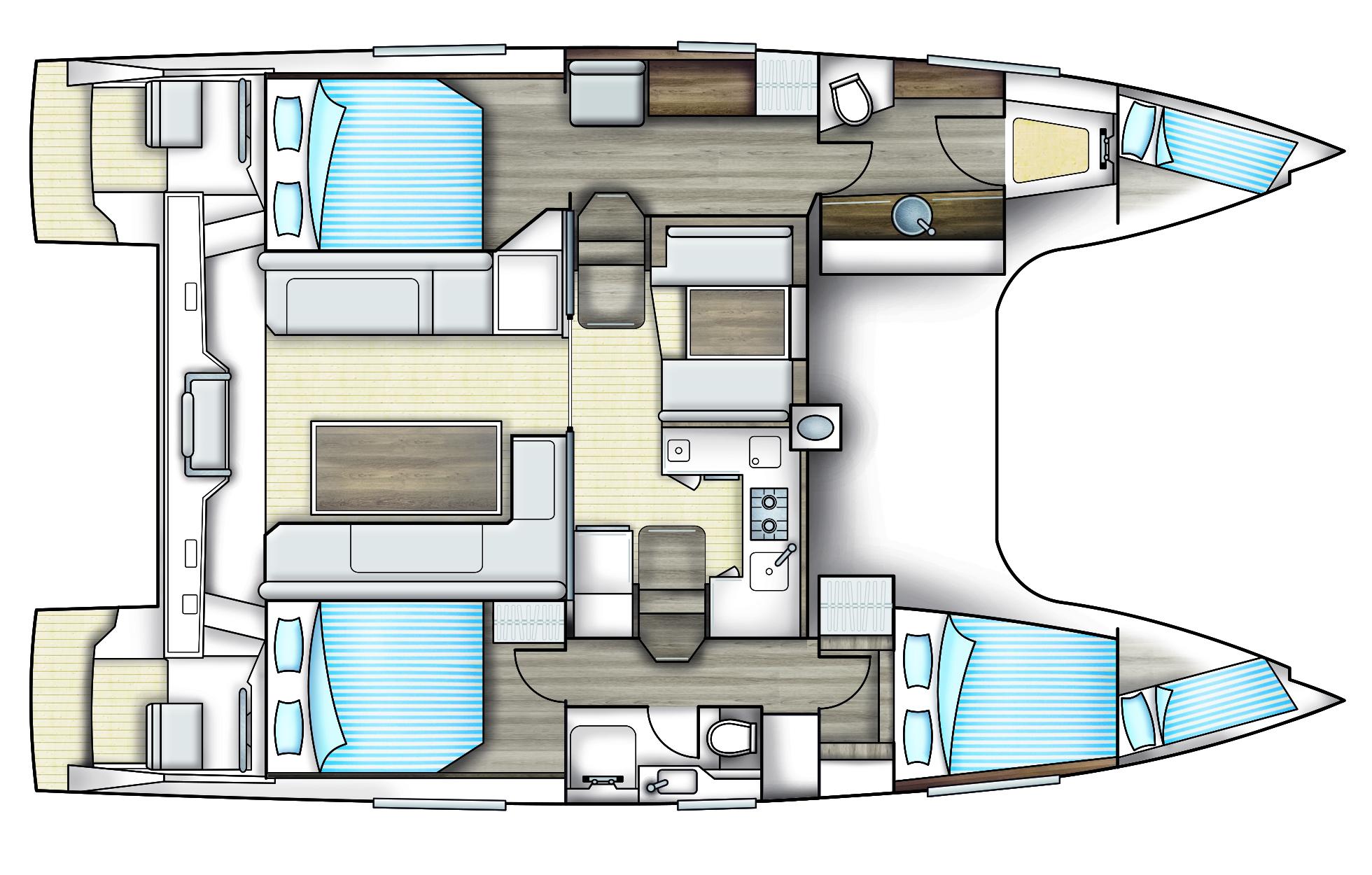 Bavaria Nautitech Open 40 Deck Layout