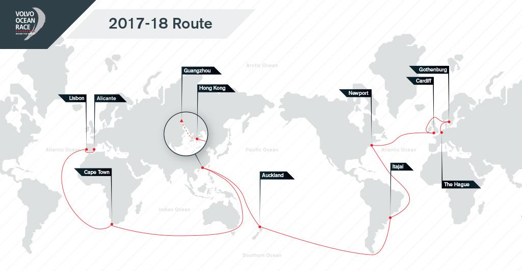 Volvo Ocean Race 2017-2018 Route