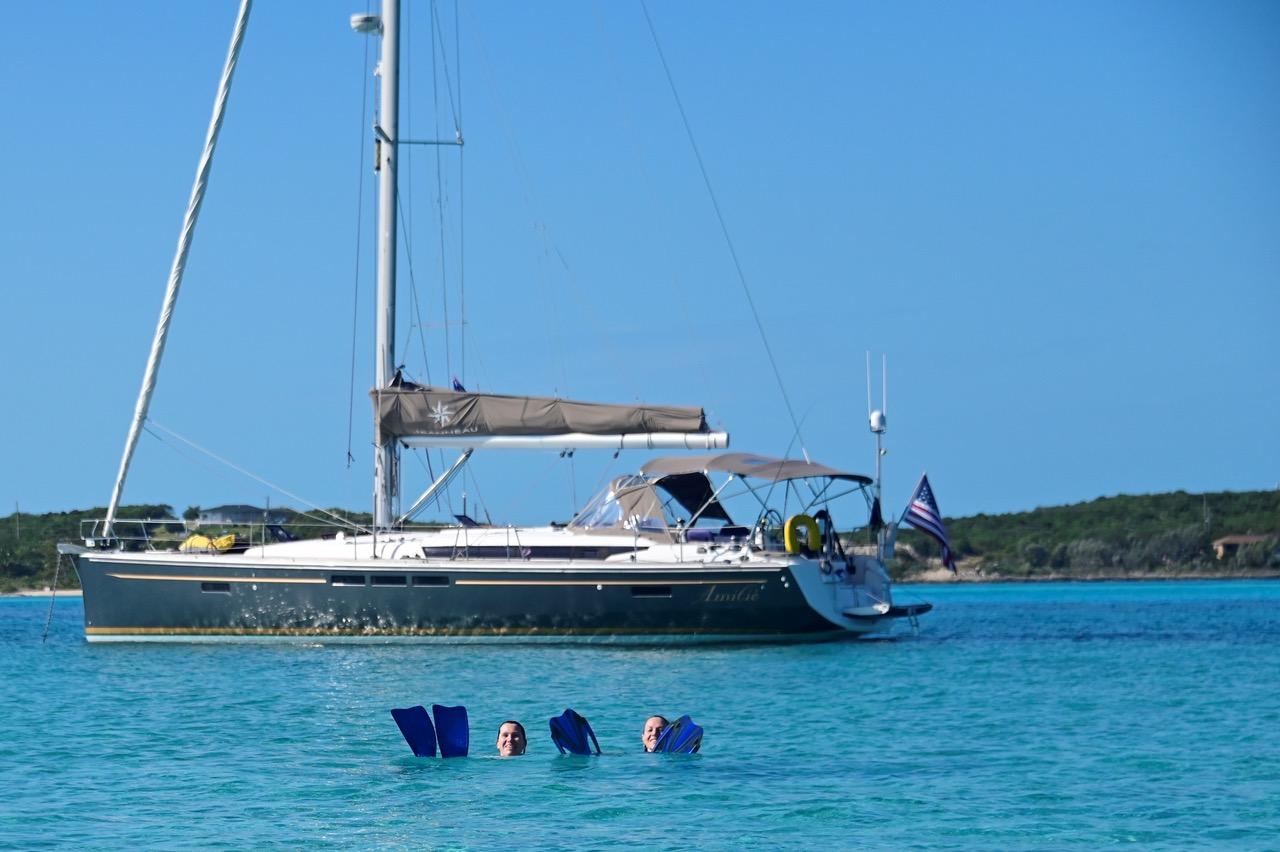 Exumas cruising and swimming